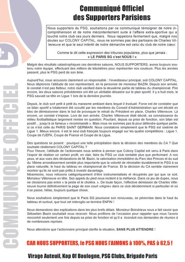 Communiqué parisien. Communique_colony_forum